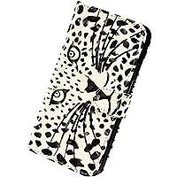 Herbests Funda Compatible con Samsung Galaxy Note 10 Plus - Carcasa Cartera de Cuero PU Flip Folio Carcasa Case Diseño Colores Funda Cierre Magnético y Soporte Plegable,Leopard