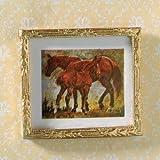 Casa de muñecas Emporium Cuadro con caballos en una pradera
