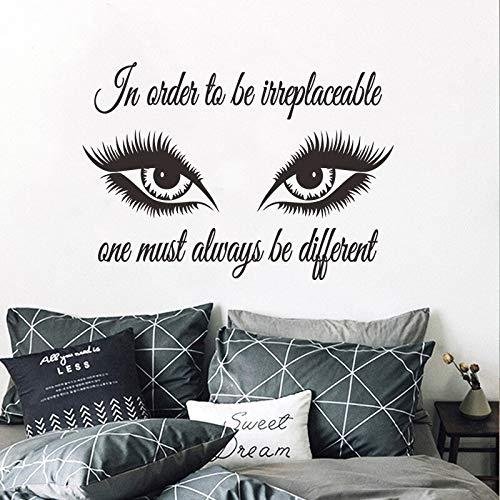 Große augen schöne pvc wandaufkleber dekoration make-up schlafzimmer wohnzimmer diy hause indoor abnehmbare wandbild