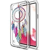 LG X Power caso, LG X Potencia Cubierta, ikasus Ultra Thin Suave TPU Caso, colorido arte pintado Mandala flores suave silicona caso de goma, cristal transparente floral suave silicona Carcasa trasera para LG X Power,