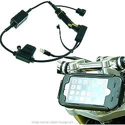 Hella / Din Alimenté 13.3-14.7mm Moto Fourche Attelage Support & Tigra Bikeconsole Étui pour Iphone 7