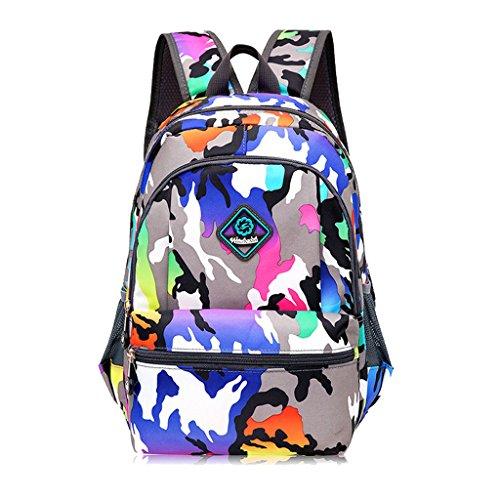 Imagen de super moderno unisex nylon bolso de escuela de los niños  senderismo  fresco  deportiva, mujer infantil hombre, blue&purple, medium