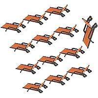 Sharplace 10 Piezas Modelos Playa Tumbonas de Sol de Plástico Juguetes ...