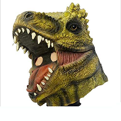 FENGFENGGUO Fengengguo Horror-Maske, Dinosaurier-Maske für Weihnachten, Ball, Party, Halloween, Horror-Teufelsmaske Vampir, Haunted House Dress Up Latex Kopfbedeckung, Film-Requisiten, Make-up, Tanz