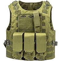 Xinwcang Chaleco Táctico de Combate Militar CS Game Cosplay Entrenamiento Formación Caza Deportes al Aire Libre Chaqueta de Protección Camuflaje para Adultos Viaje Hiking Vest