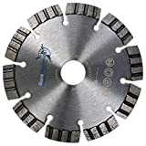 Diamant Trennscheibe TURBO SUPERCUT, 125mm, Aufnahmebohrung 22,23mm, standard universal für alle Baumaterialien, für Beton, Betonplatten, Pflastersteine, Mauerwerk, perfekt für Stahlbeton, kämpft sich auch durch Moniereisen, auch für armierte Materialien, Profiqualität
