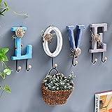 Zhi jin 4pcs lettera in legno ganci a parete porta Craft set decorativo per appendere i vestiti cappello Love