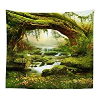 Gowind6 3D Wall Hanging Tree Print Tapestry Creative Forest Realistic 3D Tapestry Home Decor Tree Print Wall Art Tapestry Beach Sun Shawl Scarf Bedspread Blanket
