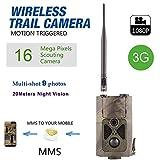 OOFAYWFD 3G-Jagdkamera, Wildlife Trail Kamera Fotofalle und 1080P wasserdicht Spielkamera Forest HD MMS