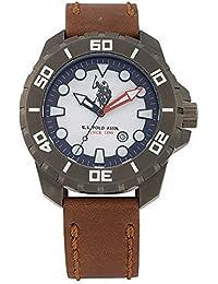 Reloj U.S. Polo Assn. Eagle usp4259gy Piel Marrón Hombre