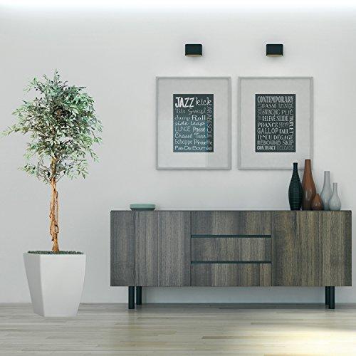 Olivenbaum mit Früchten Echtholzstamm Kunstbaum Kunstpflanze Dekobaum 180cm groß - 5