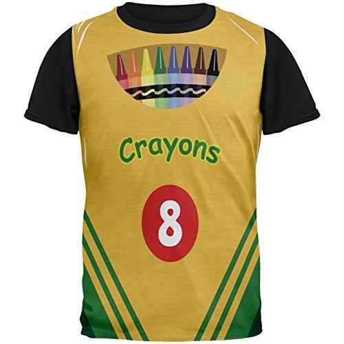 Halloweenkostüm Crayon Box ganz zurück T-Shirt Herren schwarz Multicoloured