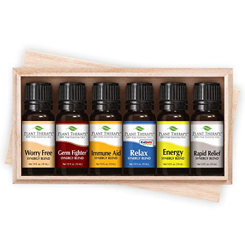 Top 6 Essential Oil Synergies Sampler Set 100% Therapeutic Essential Oil Blends -