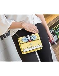 Mujer hembra remache pequeña bolsa de Hombro cuadrado bolsa de mensajero amarillo