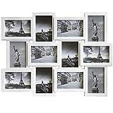Bilderrahmen 60x45x2cm für 12 Bilder im Format 10x15cm Weiss Multibilderrahmen Fotorahmen Bildergalerie
