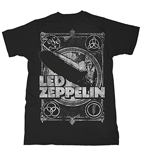 Led Zeppelin Shook Me T-shirt noir, Black, Large