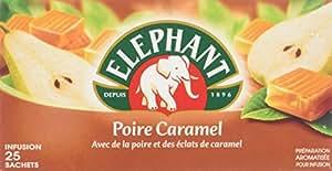 Elephant Infusion parfumée Poire Caramel 25 sachets - Lot de 4