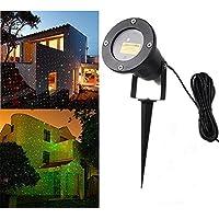 LED Spot luce illuminazione da giardino lampada da terra paesaggio Fanale verde/rosso illuminazione IP65impermeabile stella, decorazione festa lampada per cortile all' aperto con telecomando per cortile giardino decorazione per piante flackernde Licht