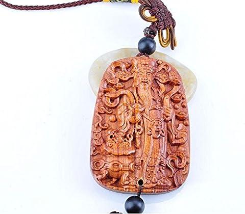 MZP Palisander Wen Fortuna verpackt mit bunten chinesischen Knoten Auto aus dem Auto hängen auf das Niveau des Wortes Segen verbunden transportiert Feng-Shui-Ornamente kreativ