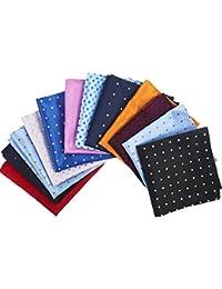 15 Piezas de Pañuelo de Algodón Pañuelo de Bolsillo Cuadrado Grande para Hombres (Multicolor)