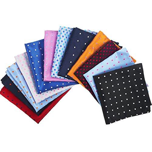 12 Stücke Herren Anzug Einstecktuch Taschentücher für Hochzeit, Party, 12 Verschiedenen Farben