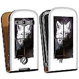 Samsung Galaxy S Advance i9070 Housse Étui Protection Coque Loup Nuit Art