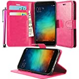N+ INDIA Xiaomi Redmi Note 4 2017 PINK LEATHER WALLET FLIP CASE COVER POUCH FOR Xiaomi Redmi Note 4 2017 + TOUCH STYLUS PEN