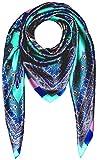 Lorenzo Cana Luxus Damen Seidentuch aufwändig bedrucktes Tuch 100% Seide 100 cm x 100 cm harmonische Farben Damentuch Schaltuch 89008