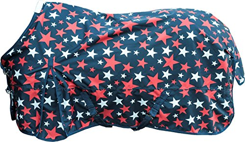 HKM 75486900.0021 Weidedecke Stars 600D mit Polarfleecefutter, dunkelblau
