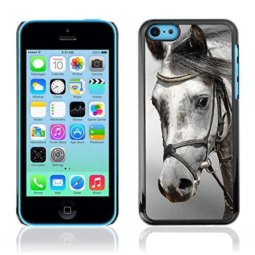 Graphic4You Pferd Tier Design Harte Hülle Case Tasche Schutzhülle für Apple iPhone 5C Design #1