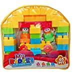 Shanaya Toys 40 Pieces Building Blocks With Stickers For Kids (Multicolor Big Size Blocks)