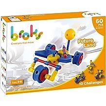 BROKS Future Land - Juego de construcción original con 60 piezas encajables de alta calidad para niños y niñas de 3 a 8 años