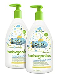 Fragrance Free , Frustration-Free Packaging : Babyganics Daily Baby Lotion, Fragrance Free, 17 Ounce (Pack of 2)