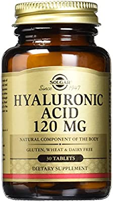 Solgar Hyaluronic Acid Tablets, 120 mg, 30 Count by Solgar