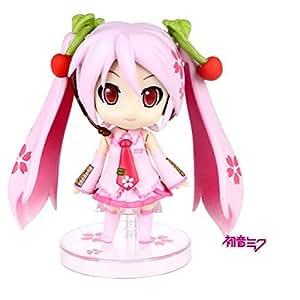 Anime Vocaloid Hatsune Miku Rose cerise Bijoux 97Q Version PVC Action figures Modèle Collection Jouets poupée 10cm