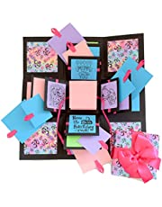 Crack of Dawn Crafts 3 Layered Happy Explosion Box Purple Om (Birthday)