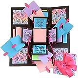 Crack of Dawn Crafts 3 Layered Happy Explosion Box Purple Om (Birthday)
