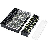 DealMux 600V 15A 8 Posición de doble fila 16 Tornillo eléctrico de barrera Bloque 4 piezas