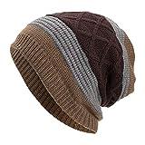 URIBAKY Femmes Hommes Chaud Baggy Weave Crochet Hiver Laine Tricot Ski Bonnet Skull...