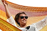 MacaMex Hängematte Mexikanische Netzhängematte Familienhängematte XXL 4 Personen 300 kg, 410 x 300 x 150 cm, solar - 3