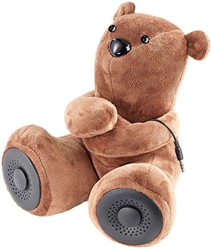 auvisio Wireless Speaker: Lautsprecher-Teddybär mit Bluetooth 4.1 + EDR und Mikrofon, 10 Watt (Sprechender Teddy Telefon) -