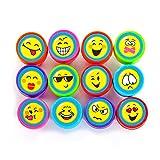 Oblique-Unique® - Stempelset Smileys 12 Stück - Kinder Stempel - Selbstfärbend von Oblique-Unique®