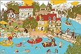 Poster 91 x 61 cm: Schweiz Wimmelbild: Bern von Andrea