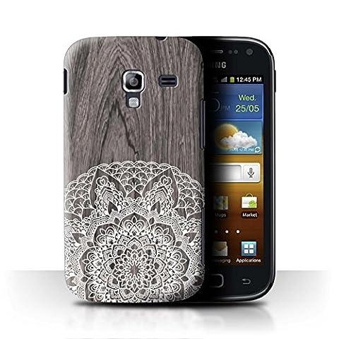 Coque de Stuff4 / Coque pour Samsung Galaxy Ace 2/I8160 / Bois Rustique Design / Bois Dentelle Fine Collection