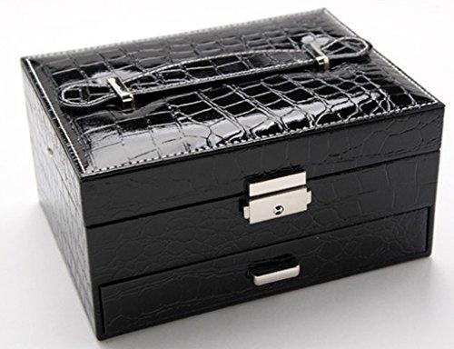 HWF étui cosmétique Boîte à bijoux boîte de rangement en cuir boîte de finition Organisateur ( Couleur : G )