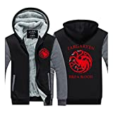 Targaryen Fire and Blood Kapuzenjacke Grau 3XL