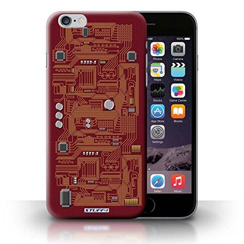 KOBALT® Hülle Case für iPhone 6+/Plus 5.5 | Rot Entwurf | Leiterplatte Kollektion Rot