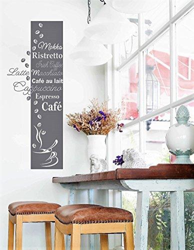 *NEU* Wandaufkleber Wandtattoo Wandsticker für die Küche/Esszimmer KAFFEE BANNER (Größen.- und Farbauswahl)
