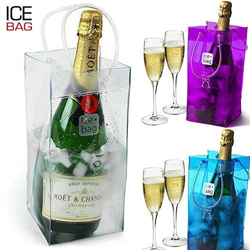 Bakaji Ice Cooler Bag Box Busta Secchiello Portaghiaccio per bottiglia di Vino o Spumante, Nuovi (Ice Cooler Bag)