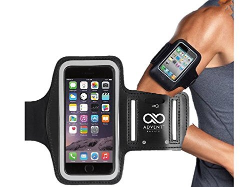 Advent Basics Sports Armband Cover Case for All Smartphones Upto 5.5 IN (Black)